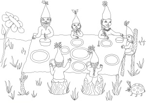 kabouters aan tafel